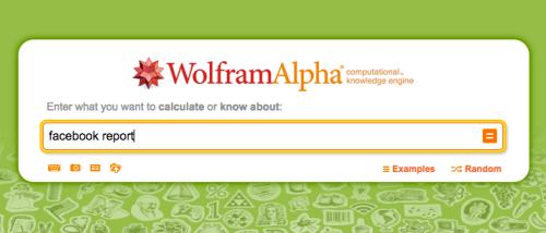 WolframAlphaFacebookReport