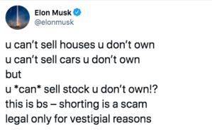 Elon Musk, short-selling